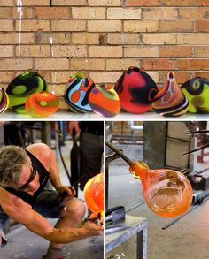 I will learn to blow glass; hopefully as beautiful as this. #PhilipStokesGlass