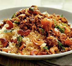 Moroccan spiced mince with couscous