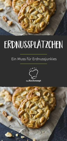 Als wahrer Erdnussjunkie sind diese Erdnussplätzchen einfach ein Muss: Im Teig … As a true peanut junkie, these peanut cookies are just a must: peanut butter topped with whole peanuts. Wonderfully nutty – and guaranteed to make you happy. Chocolate Cookie Recipes, Easy Cookie Recipes, Baby Food Recipes, Chocolate Chip Cookies, Cooking Recipes, Best Peanut Butter, Peanut Butter Cookie Recipe, Sugar Cookies Recipe, Cake Mix Cookies