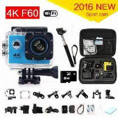 [ 20% OFF ] Gopro Hero 4 Style F60 Ultra 4K Action Sport Camera Wifi 2.0 Lcd 170 Degree Wide Lens Helmet Cam Underwater Waterproof