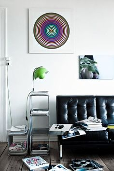 - FlowerPot Table Lamp – Designed by Verner Panton Modern Interior Design, Interior Architecture, Clamp Lamp, Corner House, Danish Design, Lamp Design, Floor Chair, Interior Inspiration