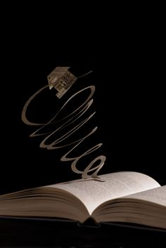 Book Sculptures by Julya Hajnoczky, via Behance