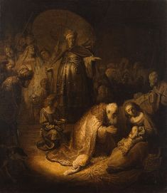 Rembrandt, The adoration of the Magi, 1633