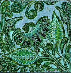 I was really suprized & shocked at how the negatives turned out . I tinted this one Blue green . Doodle Designs, Doodle Patterns, Zentangle Patterns, Zen Doodle, Doodle Art, Go Green, Green Colors, Tangled Drawing, Flower Doodles