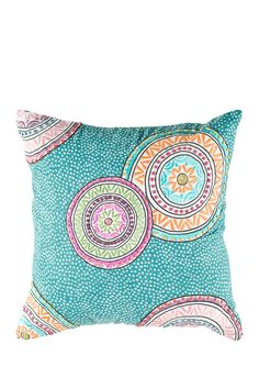 "Bullseye Embroidered Pattern Throw Pillow - 18"" x 18"" by Rizzy on @nordstrom_rack"
