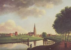 1776 - View on Breda from about the point the murals are located.