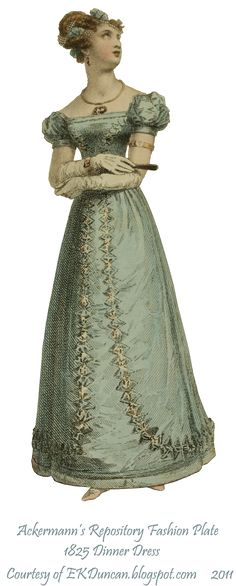 EKDuncan - My Fanciful Muse: Curtains Set the Stage - Regency Beauties from Ackermann's Repository