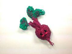 3-D Happy Beet (Beetroot) Tutorial (Rainbow Loom) by Feelin' Spiffy.