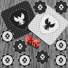 Casino chips and dice vector illustration design 07 - https://www.welovesolo.com/casino-chips-and-dice-vector-illustration-design-07/?utm_source=PN&utm_medium=welovesolo59%40gmail.com&utm_campaign=SNAP%2Bfrom%2BWeLoveSoLo