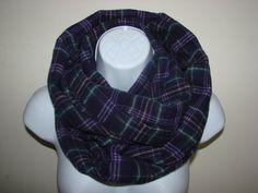 purple plaid infinity scarf eggplant flannel by OtiliaBoutique Plaid Infinity Scarf, Loop Scarf, Plaid Flannel, Eggplant, Autumn Winter Fashion, Unisex, Purple, Stylish, Cotton