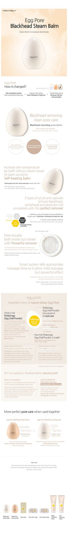 Egg Pore Blackhead Steam Balm - PACK; My favorite blackhead fighting product!!!!! <3 J