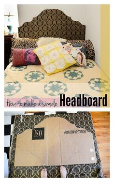 Add some style and learn how to make a simple headboard for your dorm room bed.