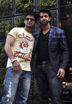 Shahid Kapoor with Hrithik Roshan #click