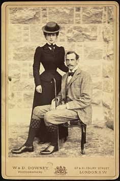 Queen Maud and King Haakon VII of Norway, before ascending the Norwegian throne. Maud was the daughter of George V of England. Victorian Women, Edwardian Era, Edwardian Fashion, 1890s Fashion, Victorian Era, Old Photos, Vintage Photos, Vintage Photographs, Adele