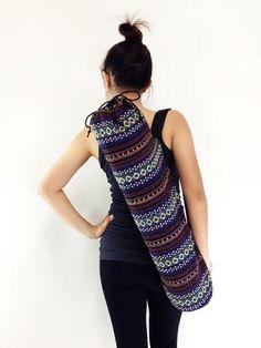 Handmade Yoga Mat Bag Yoga Bag Sports Bags Tote Yoga Sling bag Pilates Bag Pilates Mat Bag Woven Cotton bag (WF17)