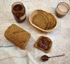 gyors teljes kiőrlésű, zabpelyhes, gluténmentes kenyér - The Puur Paleo, Dairy, Gluten, Bread, Cheese, Snacks, Cooking, Food, Cuisine