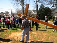 Carrying the cross- Cross Walk