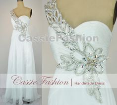 Gorgeous Sexy One Shoulder with Beading Floor by CassieFashion, $139.00