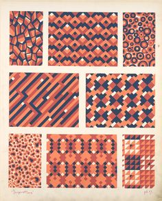 [Eight geometric compositions.] Durenceau, André, 1904.