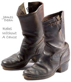 James Dean's shoes from Rebel Without a Cause. - this is perfect, i have a near perfect replica