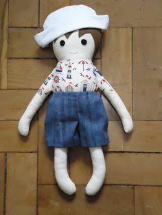 Marinheiro - Boneca de Pano/Rag Doll