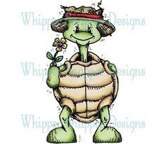 Boy Turtle Holding Flower