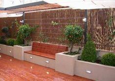 57 Gorgeous Garden Fence Design Ideas - New ideas Backyard Seating, Backyard Patio Designs, Garden Seating, Backyard Landscaping, Backyard Ideas, Back Garden Design, Garden Landscape Design, Fence Design, Rooftop Terrace Design