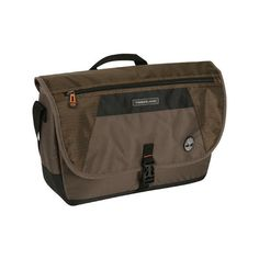 """Timberland Route 4 17"""" Messenger Bag - Cocoa (59 NZD) ❤ liked on Polyvore featuring bags, messenger bags, brown, messenger bag, timberland messenger bag, brown messenger bag, timberland bag and brown bag"""