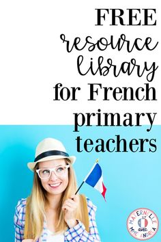 Maternelle avec Mme Andrea: FREE French Resource Library! Perfect for primary teachers (les enseignants du primaire). TONS of Free French resources inside! French Teacher, French Class, French Lessons, Teaching French, Spanish Lessons, Teaching Spanish, Core French, Spanish Activities, French Worksheets