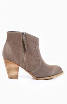 Therapy Tulum Boots Taupe... cute little taupe booties, for those times when you can't let go of wintery styles....