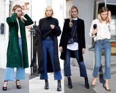 Trend Report: The Flare Cropped Jeans (Style LimeLight) Jean Outfits, Fall Outfits, Casual Outfits, Cute Outfits, Estilo Fashion, Look Fashion, Fashion Outfits, Womens Fashion, Culotte Style