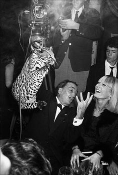 Salvador Dali in France on November 10 1965. Non, Getty, ce n'est pas Amanda Lear ! (depuis Peki who)