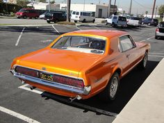 67 Mercury Cougar by DVS1mn, via Flickr   The tail lights would flash from center to outside.