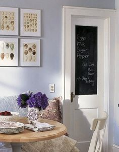 use chalkboard paint to personalize your home