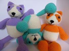 free Pattern.Same Smile crochet pandas