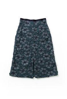Alabama chanin floral mid length skirt 3