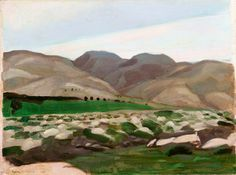 The Hills of Judea by Sydney William Carline IWM (Imperial War Museums)      Date painted: 1919     Oil on canvas, 30.2 x 40.3 cm     Collection: IWM (Imperial War Museums)