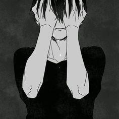 Sad Anime, Anime Crying, Manga Anime, Anime Art, Anime Boys, Manga Girl, Anime Triste, Art Triste, Art And Illustration