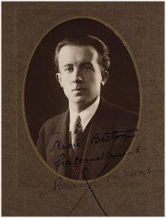 Paul Eluard, foto con dedica ad André Breton, anni '20.