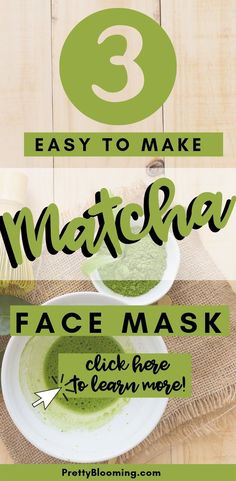 Matcha green tea isn't just for drinking. Learn why you should be putting it on your face, and how to make a DIY matcha face mask! Pore Mask, Blackhead Mask, Face Mask For Pores, Clay Face Mask, Diy Skin Care, Skin Care Tips, Matcha Face Mask, Diy Charcoal Mask, How To Make Greens