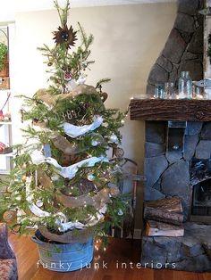 Funky Junk Christmas tree