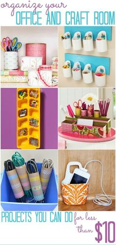 Office and Craft Space Organization |  #CRAFT #OFFICE #Organization #Space