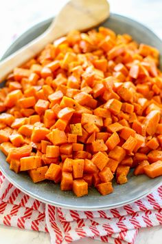 Sweet potatoes are transformed into a tender, savory side dish that can be served alongside almost anything! Try these roasted sweet potatoes with turkey breast or even eggs. You'll only need three ingredients.  I feel like there are five vegetable side dishes that everyone should be able to make, without using a recipe– carrots, green beans,...