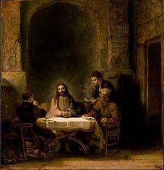 Image illustrative de l'article Les Pèlerins d'Emmaüs (Rembrandt)