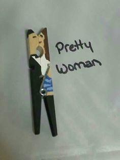 Clothes pin kissing couple. Clothes pin craft diy. Pretty Woman