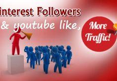 mh_freelancer: 500 pinterest followers 100 pinterest like and 100 youtube like for $5, on fiverr.com