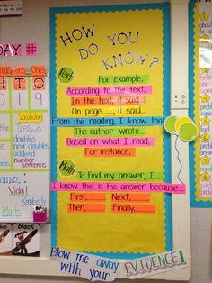 Sentence frames/starters to provide evidence and explanations. (Common Core):