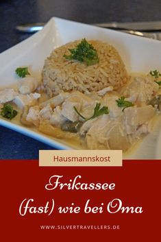 Home cooking: Frikassee - Home cooking: Frikassee – recipe for classically prepared chicken frikassee with detailed prepara - Simple Muffin Recipe, Healthy Muffin Recipes, Ramadan Recipes, Detox Recipes, Winter Food, Slow Cooker Recipes, Clean Eating, Food And Drink, Vegetarian