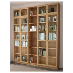BILLY / OXBERG oak veneer oak, Bookcase, 200x30x237 cm - IKEA Bookcase Door, Modern Bookcase, Bookcase Shelves, Library Bookshelves, Large Bookcase, Bookcases, Glass Cabinet Doors, Glass Shelves, Billy Oxberg