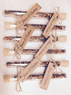 Loose tea in a cute tube! Could probably diy! Custom Wedding Favor by customfavours